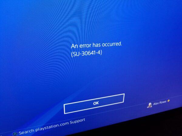 ps4 firmware repair boot look startup error